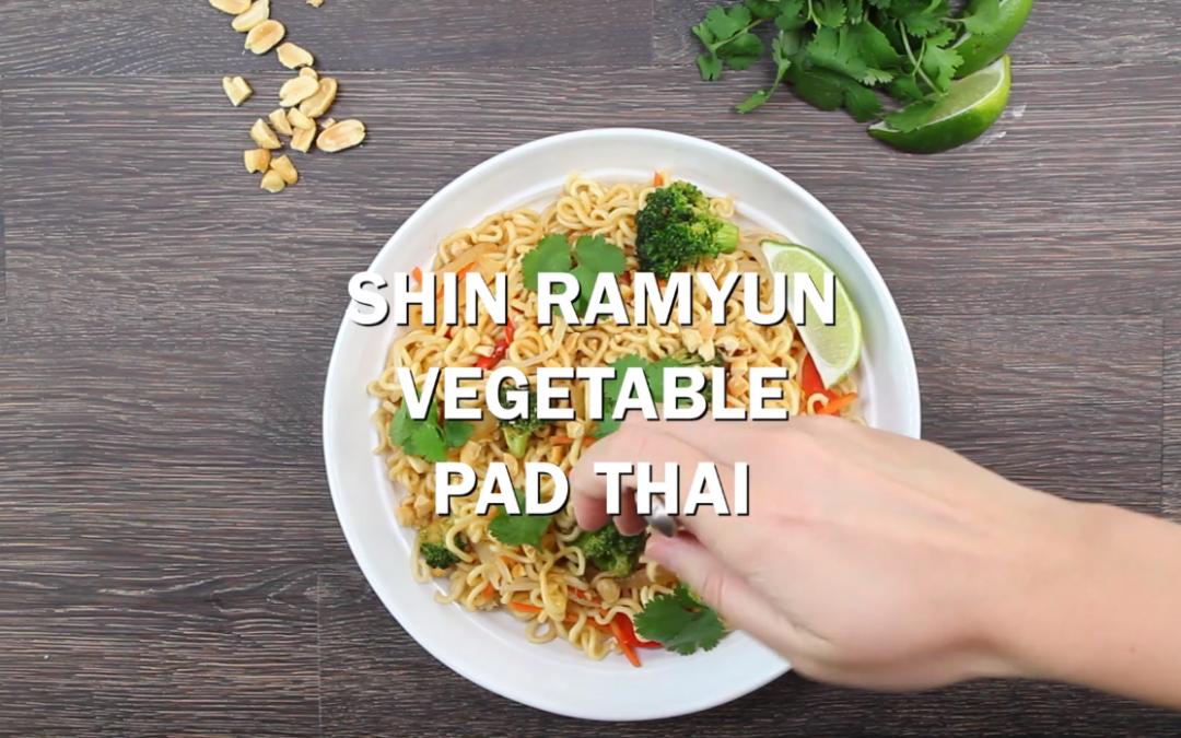 [Recipe Video] Shin Ramyun Vegetable Pad Thai