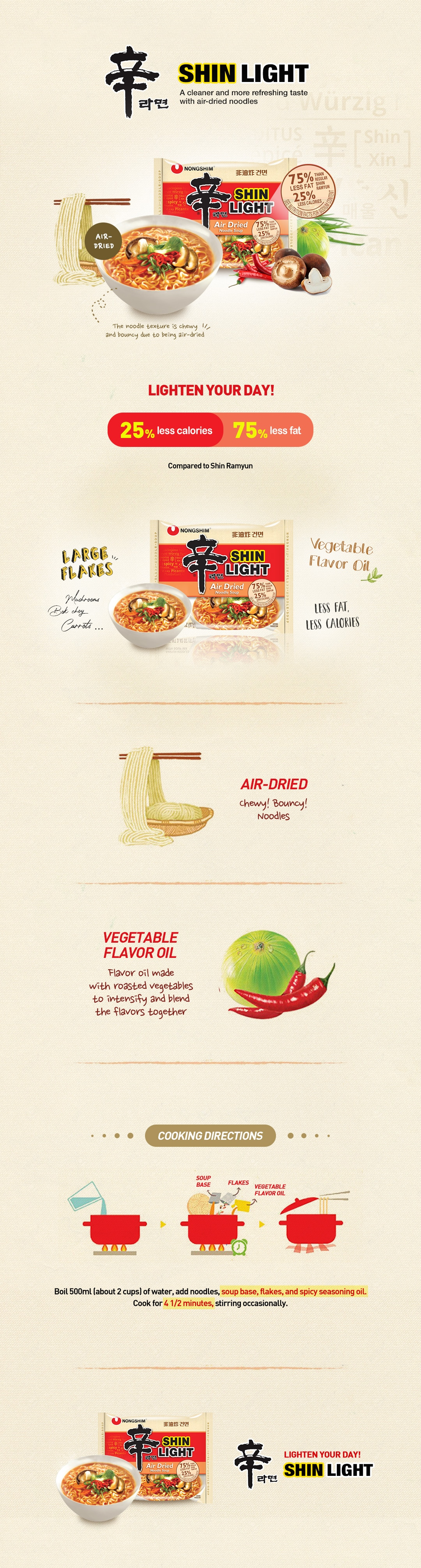 Image for Shin Light Air Dried Noodles Product Details